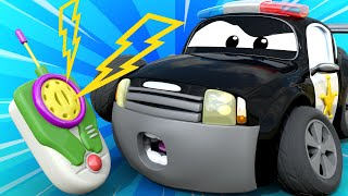 Car Patrol -  The power cut  - Car City ! Police Cars and fire Trucks for kids