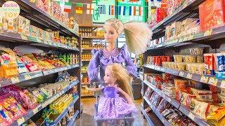 Barbie shopping Barbie Doll Hair Salon Barbie market