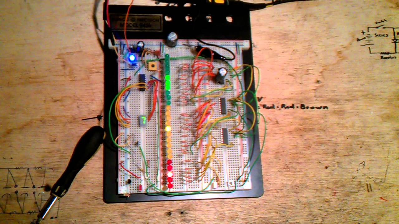 A 555 Timer Running 4017 Decade Counter And 4026 7 Seg For 5 Led Chaser Circuit Using Chip Electronics Forum Circuits