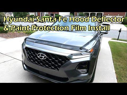 Install 2019 Hyundai Santa Fe Hood Deflector & Paint Protection Film
