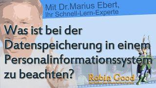 Was ist bei der Datenspeicherung in einem Personalinformationssystem zu beachten?