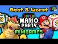 Top 5 BEST and WORST Super Mario Party Minigames [TetraBitGaming]