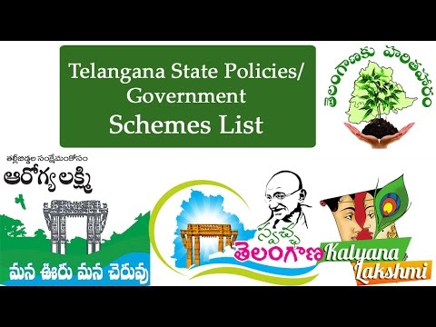Telangana State Policies/Government schemes  list