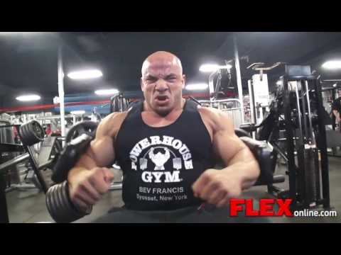 Big Ramy's Shoulder Training with Dennis James 3 Days Before NY Pro