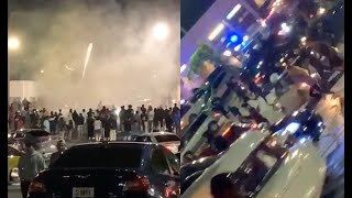 Atlanta Opens Back Up And Residents Go Wild! Fireworks, Car Shows, People Running To Malls