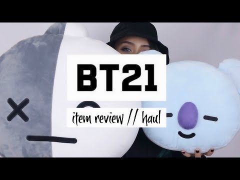 BT21 Review #1: Plushies + Clothing | haul