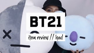 BTS x LINE - BT21 Review #1: Plushies + Clothing | haul