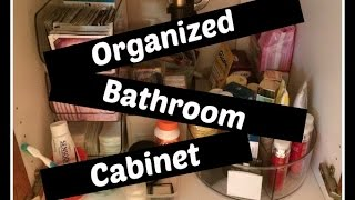 ORGANIZE: Bathroom cabinet - under sink storage
