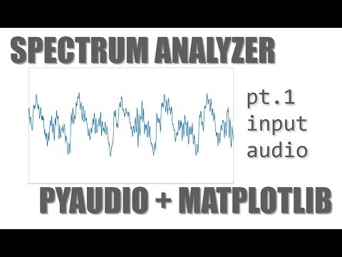 Let's Build an Audio Spectrum Analyzer in Python! (pt. 1) the waveform viewer.