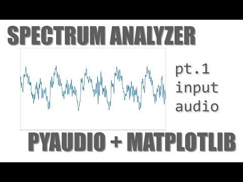 Let's Build an Audio Spectrum Analyzer in Python! (pt  1