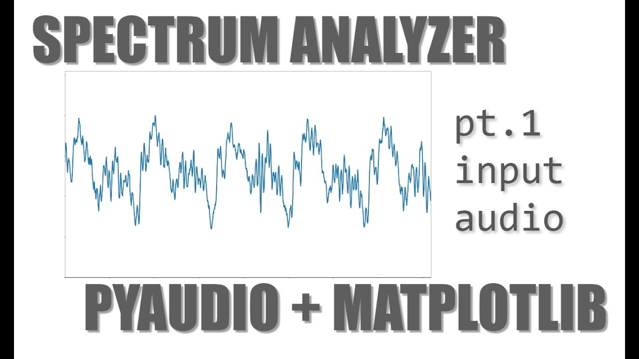 Let's Build an Audio Spectrum Analyzer in Python! (pt  1) the waveform  viewer