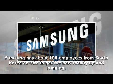 Samsung expands its production facilities at South Carolina plant