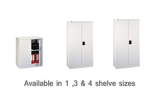Grey Metal Locking Office Cupboards with Keys - DDC Office Furniture