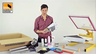 Siebdruck Set für T-Shirt und Textildruck - Der Einstieg in das Siebdruckverfahren