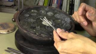 The art of Metal Chasing to create handmade jewelry.