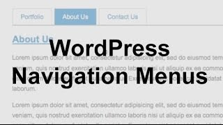 WordPress Navigation Menus (Theme Development)