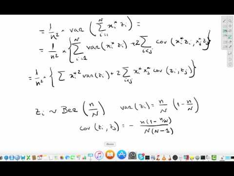 Variance of the sample mean (finite population)