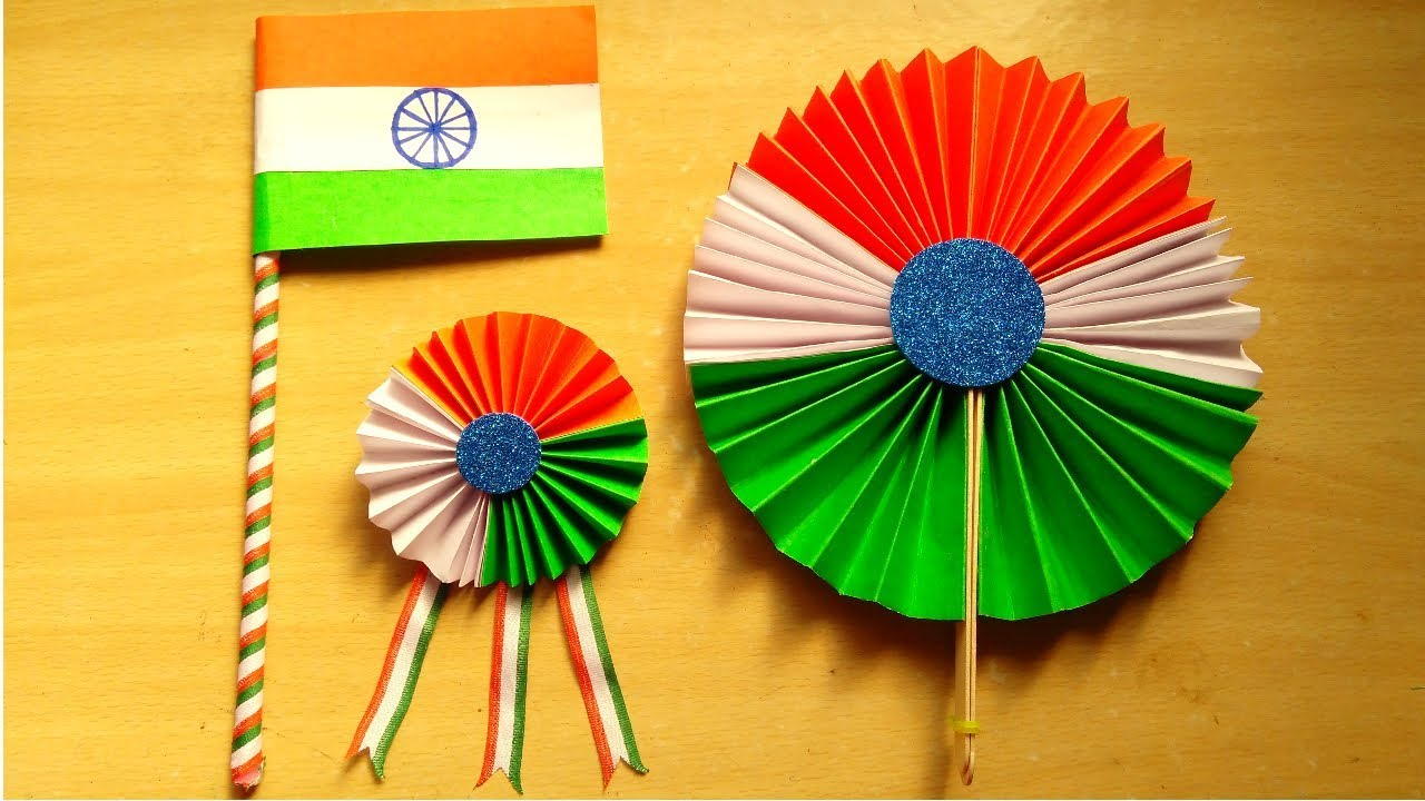 Diy 3 Easy Republic Day Craft Independence Day Craft Paper