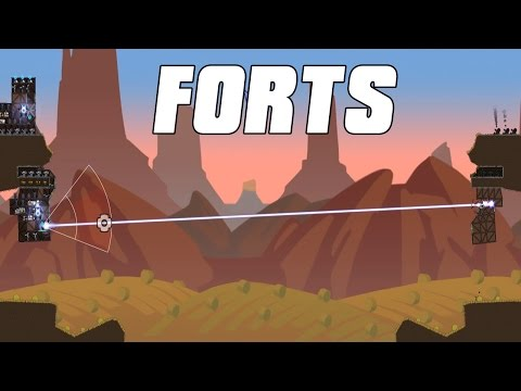 FORTS Multiplayer - Fort Destruction 2v2 Gameplay