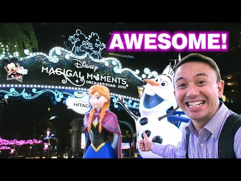 Disney Magical Moments Christmas Decorations In Orchard Road Singapore 2018