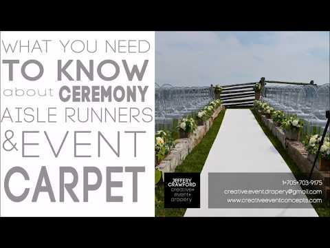 Wedding Aisle Runners & Event Carpet| What You Need to Know!