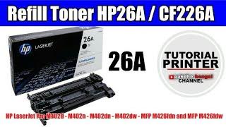 Cara refill catridge toner printer hp 26a ( Cf226a )