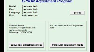 RESET EPSON L365 L375 L380 L395 L396 L4150 L4160 L3110 L3150 DOWNLOAD GRÁTIS