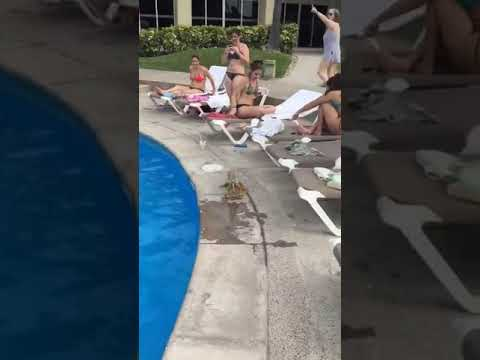 Eric Hunter - Swimmers Get A Scare From Fighting Iguanas