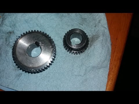 Segment 3: dry testing new metal gears for G0704, plastic gear replacement