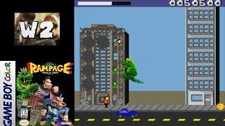 Rampage World Tour [Game Boy Color] Gameplay