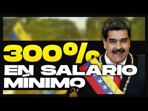 Venezuela aumentó el salario mínimo un 300%
