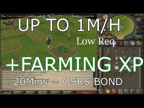 OSRS fast Bond method with Farming, Runescape Guide.