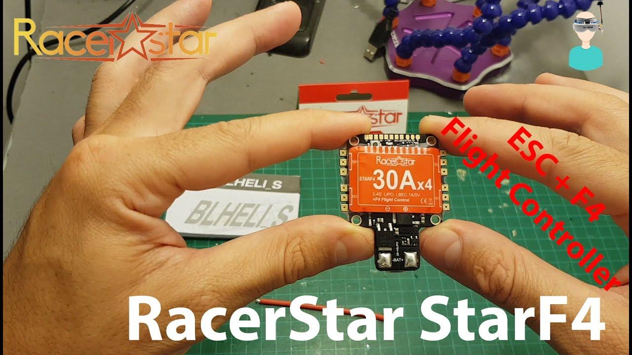 racerstar starf4 30a 4 in 1 esc and flight controller overview [ 1280 x 720 Pixel ]