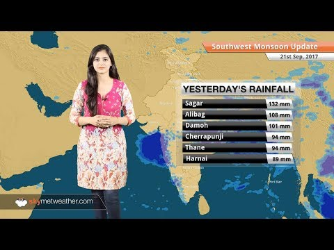 Monsoon Forecast for Sep 22, 2017: Rain in Delhi, Lucknow, Agra, Indore