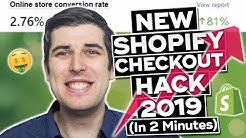NEW FREE ULTIMATE SHOPIFY CHECKOUT HACK 2019 UPDATED | CONVERSION PIRATE HACK