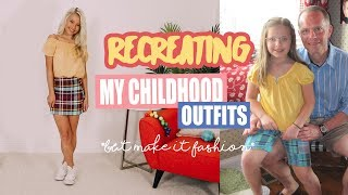 Recreating My Childhood Outfits *but make it fashion*