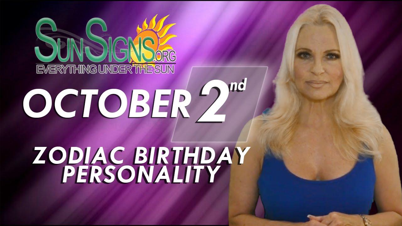 October 2nd Zodiac Horoscope Birthday Personality Libra Part 2 Youtube
