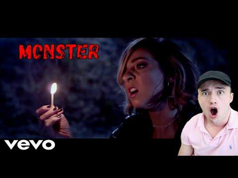 Monster / Monster (Reborn) - Official Music Video - Gabbie Hanna REACTION