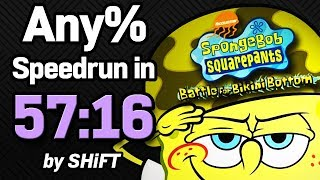 SpongeBob SquarePants: Battle for Bikini Bottom Any% Speedrun in 57:16 (WR on 2/21/2018)