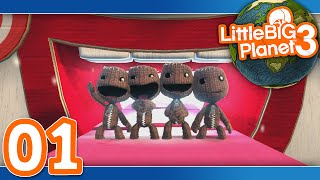 Little Big Planet 3: Part 01 - Prologue (4-Player)