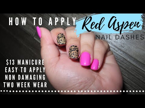 How To Apply Red Aspen Nail Dashes