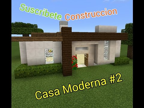 Minecraft pe como hacer una casa moderna 2 youtube for Casa moderna minecraft pe 0 10 5