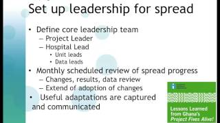 Spreading Quality Just in Time: Leadership for Spread