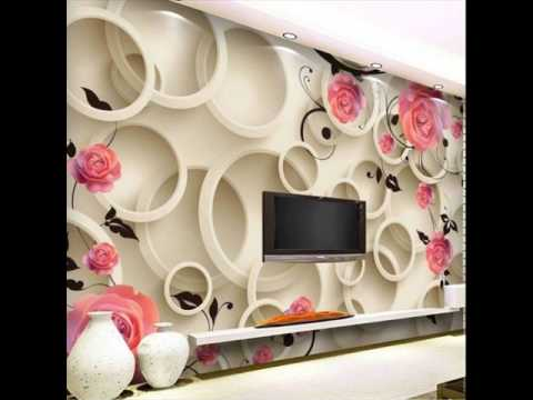 Wallpaper Behind Tv Unit Youtube