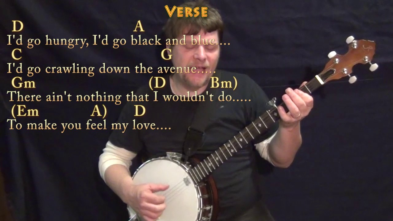 Make you feel my love banjo cover lesson in d with chordslyrics make you feel my love banjo cover lesson in d with chordslyrics hexwebz Image collections