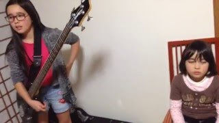 Here is Audrey (12) playing Rocksmith - Maxwell Murder - Rancid 99%...