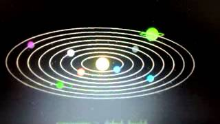 solar system simulation and animation program using c graphics