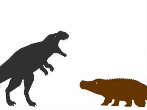 ASDC - Sarcosuchus vs Carcharodontosaurus - YouTube