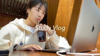 임고생 브이로그 | 스터디카페 총무 합격, 4월 주간 일상, 집공러 겸 카공러, study vlog
