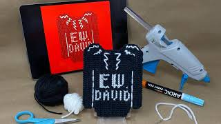 Ew, David : Plastic Canvas Sweater Magnet